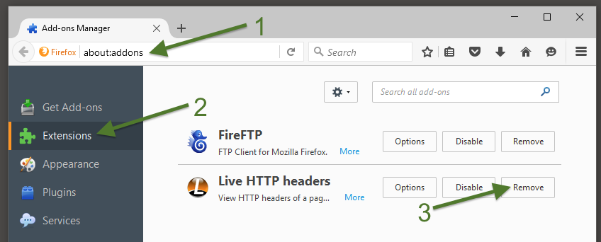 How to uninstall an extension in Mozilla Firefox