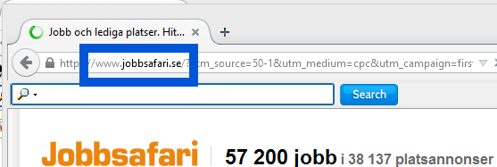 Screenshot of jobbsafari.se