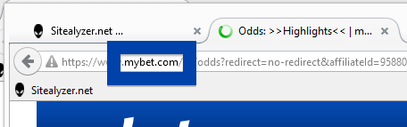 Screenshot of mybet.com